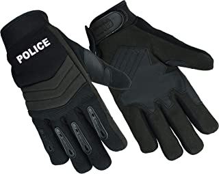 NEW Air Cooled Breathable No Sweat Knit Police, Sheriff Safety Glove with Kevlar Lining (Medium, Black.PL)
