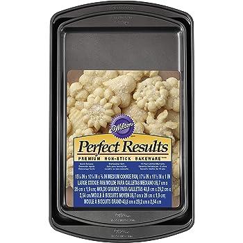 Wilton Perfect Results Premium Non-Stick Bakeware Cookie Baking Sheets Set, 2-Piece