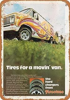Wall-Color 7 x 10 Metal Sign - 1974 Firestone Tires for Vans - Vintage Look