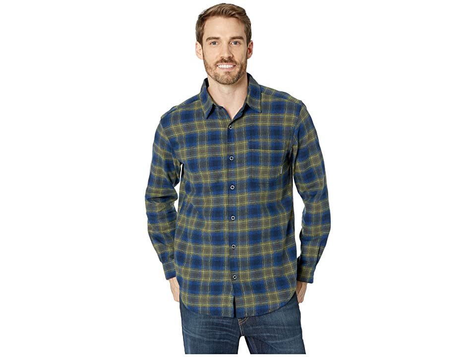 Columbia Boulder Ridge Long Sleeve Flannel (Collegiate Navy Pop Plaid) Men