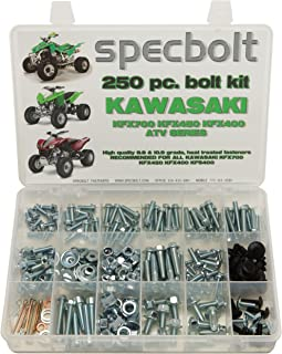 250pc Specbolt Kawasaki KFX450R KFX700 ATV Bolt Kit for Maintenance & Restoration OEM Spec Fasteners KFX 450 700 400