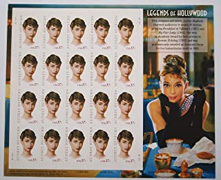 2003 AUDREY HEPBURN LEGENDS OF HOLLYWOOD #3786 Pane of 20 x 37 cents US Postage Stamps