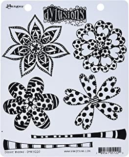 "Ranger DYR51220 Doodle Blooms Dyan Reaveley's Dylusions Cling Stamp Collections, 8.5"" by 7"", Clear"