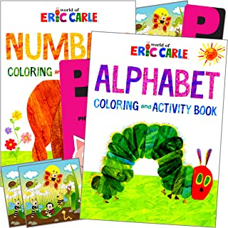 World of Eric Carle Coloring Book Activity Set with The Very Hungry Caterpillar, Very Busy Spider, Brown Bear, Bundle Incl...