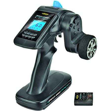 Carson 500500054 FS 3K Reflex Wheel Pro 3 LCD 2.4G-Accessoires de véhicule, Compatible pour Kits, modélisme, y Compris récepteur, RC, 2 télécommande 4 GHz, Noir