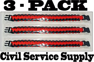 3 Pack of Premium Paracord / Para-cord Survival Bracelets 9
