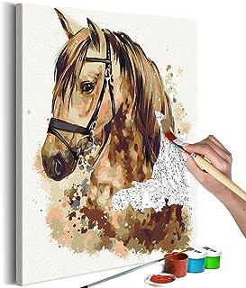 murando Pintura por Números Cuadros de Colorear por Números Kit para Pintar en Lienzo con Marco DIY Bricolaje Adultos Niños Decoracion de Pared Regalos - Caballo 40x50 cm - n-A-0264-d-a