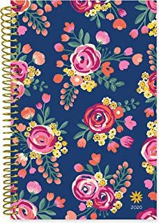 """bloom daily planners 2020 Calendar Year Day Planner (January 2020 - December 2020) - 6"""" x 8.25"""" - Weekly/Monthly Agenda Organizer Book with Tabs & Flexible Soft Cover- Vintage Floral"""