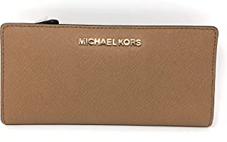 61e3b044ca36 Michael Kors Jet Set Travel Lg Card Case Carryall Wallet in Dk Khaki