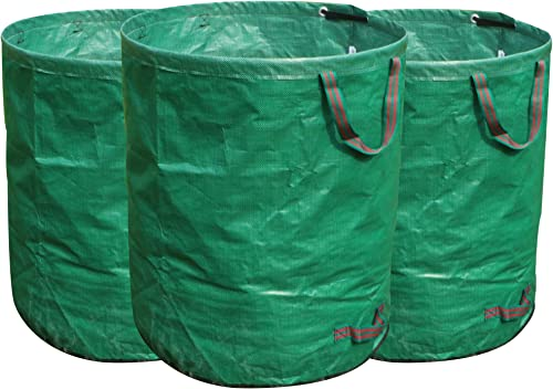 FLORA GUARD 3-Pack 72 Gallons Garden Waste Bags - Heavy Duty Compost Bags with Handles
