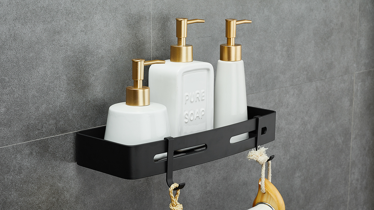 Hoomtaook Shower Shelf Bathroom Shelf Shower Shelf Shelf Nail FREE NO notif...