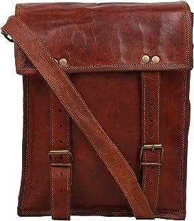 Handcraft's Jade Brown Genuine Leather Vintage Unisex Messenger Bag 13 Inch