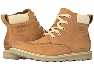 SOREL Madson Moc Toe Waterproof (Camel Brown/Oatmeal) Men