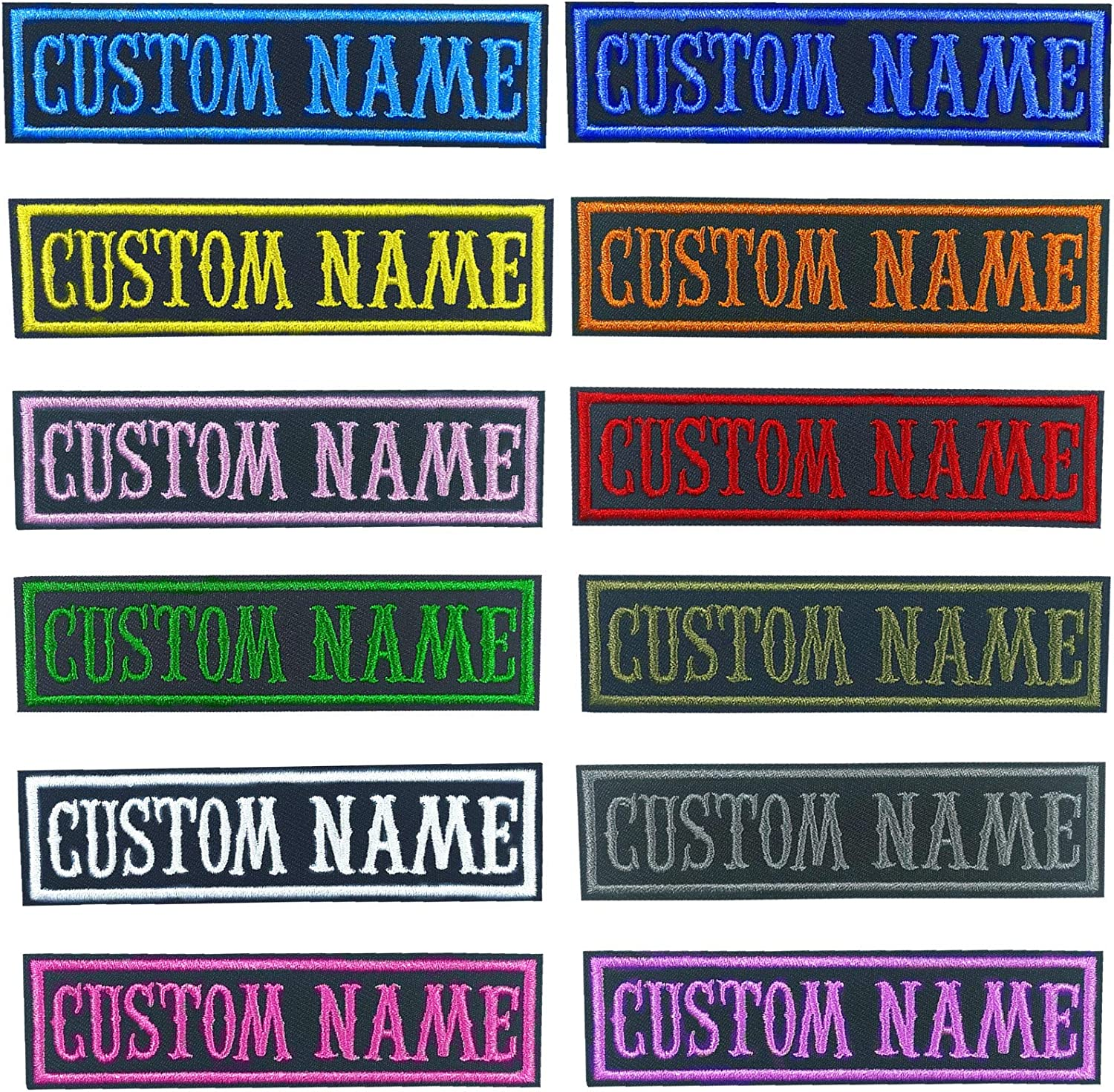 MVCEN Custom Popular brand Name Patches Military 2 Pcs Directly managed store Personalized