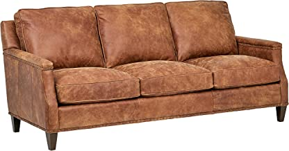 Stone & Beam Marin Leather Nailhead Studded Sofa Couch, 87