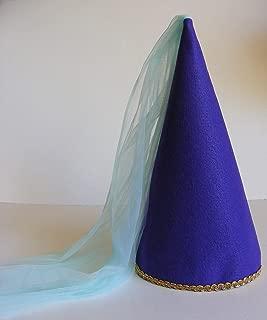 Girls Princess Cone Hat Princess Veil Hat Princess Tulle Hat Dress-up Play