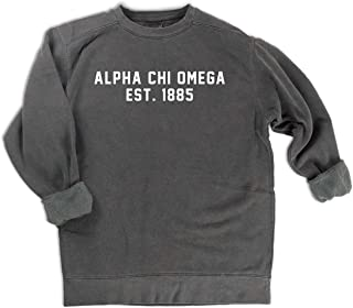 Alpha Chi Omega est. 1885 Sweatshirt Sorority Comfort Colors