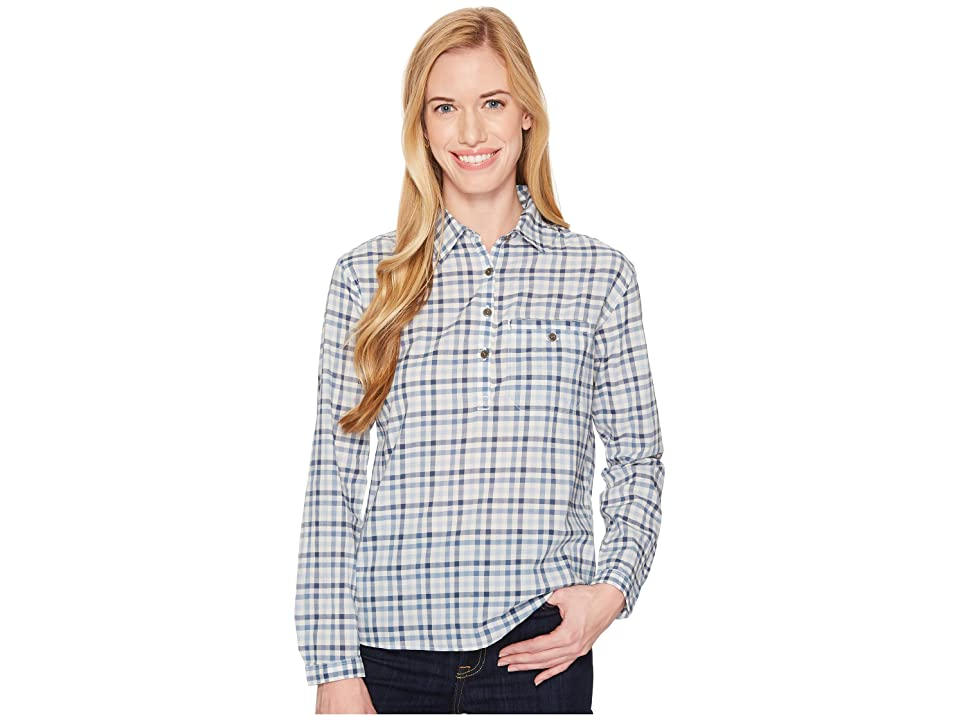 The North Face Barilles Pullover Shirt (Dusty Blue Gingham) Women