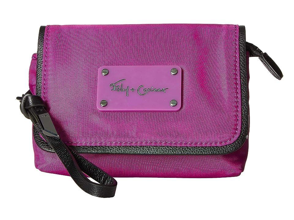 Foley & Corinna City Eclipse Flap Cosmetic Wristlet (Grape) Handbags