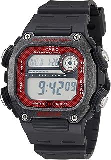 Casio 10 Year Battery Quartz Watch with Resin Strap, Black, 27.2 (Model: DW-291H-1BVCF)