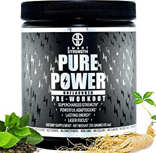 Pre Workout, Best All Natural PreWorkout Supplement. Pure Power, Healthy Pump, Clean, Keto Vegan, Paleo, Thermogenic Pre W...