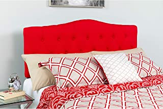 Flash Furniture Cambridge Tufted Upholstered Full Size Headboard in Red Fabric