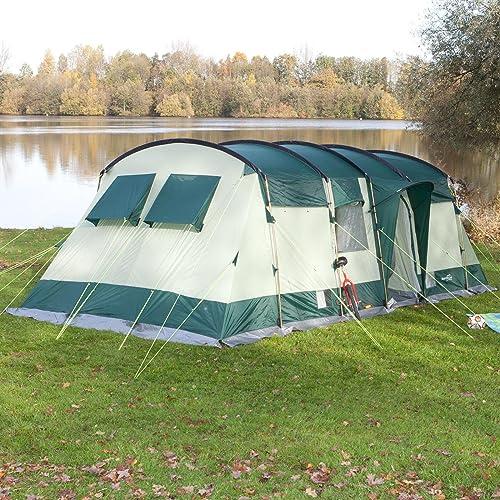 SKANDIKA Hurricane 8 -Tente de Camping Tunnel familiale - 8 Personnes - 650 x 310 cm