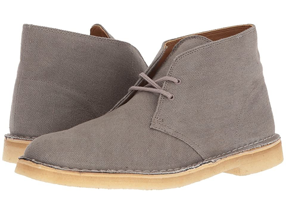 Clarks Desert Boot (Taupe Canvas) Men