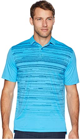 Raglan Textured Space Dye Print Polo