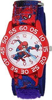 MARVEL Boys Spider-Man Analog-Quartz Watch with Nylon Strap, Blue, 16 (Model: WMA000193