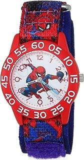 MARVEL Boys Spider-Man Analog-Quartz Watch with Nylon Strap, Blue, 16 (Model: WMA000193)