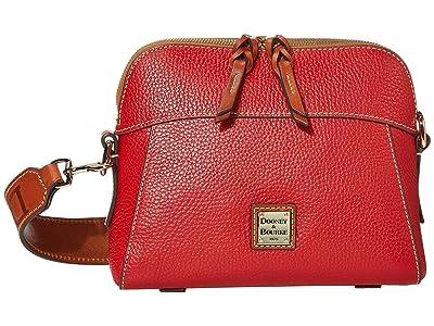 Dooney & Bourke Pebble Cameron Guitar (Red/Tan Trim) Handbags