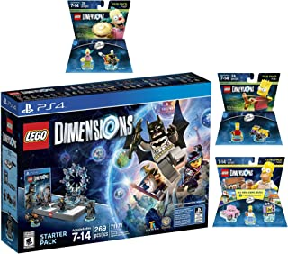 Lego Dimensions Starter Pack + The Simpsons Homer Level Pack + Bart Simpson + Krusty Fun Packs Playstation 4