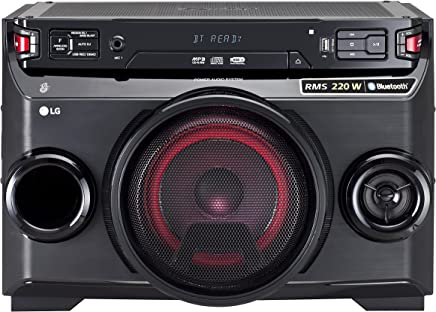 LG OM4560 - Microcadena (220 W, Bluetooth, LED), Color Negro