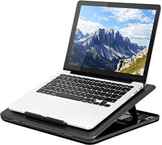 LapGear Commuter Laptop Stand - Padded Lap Desk with 20 Adjustable Angles - Black - Fits Up to 15.6 Inch Laptops and Most ...