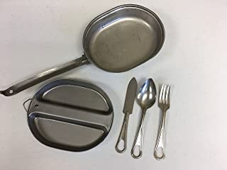 Genuine Issue US Military Mess Kit with Utensils Included