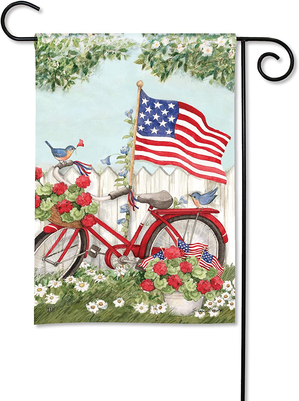 BreezeArt Studio M Topics on TV Import Patriotic Bike – Decorative Flag Garden