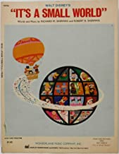 WALT DISNEY'S IT'S A SMALL WORLD FOR PIANO, ORGAN AND GUITAR Sheet Music 1963