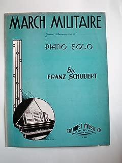 March Militaire Piano Solo