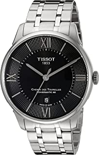 Tissot Men's T0994071105800 Chemin Des Tourelles Powermatic 80 Analog Display Swiss Automatic Silver-Tone Watch