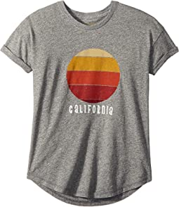 The Original Retro Brand Kids California Sunset Rolled Short Sleeve Tee (Big Kids)