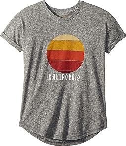 The Original Retro Brand Kids - California Sunset Rolled Short Sleeve Tee (Big Kids)