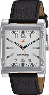Fastrack Men's Casual Wrist Watch with Analog Function with Leather Strap
