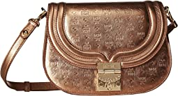 Trisha Monogrammed Leather Shoulder Small