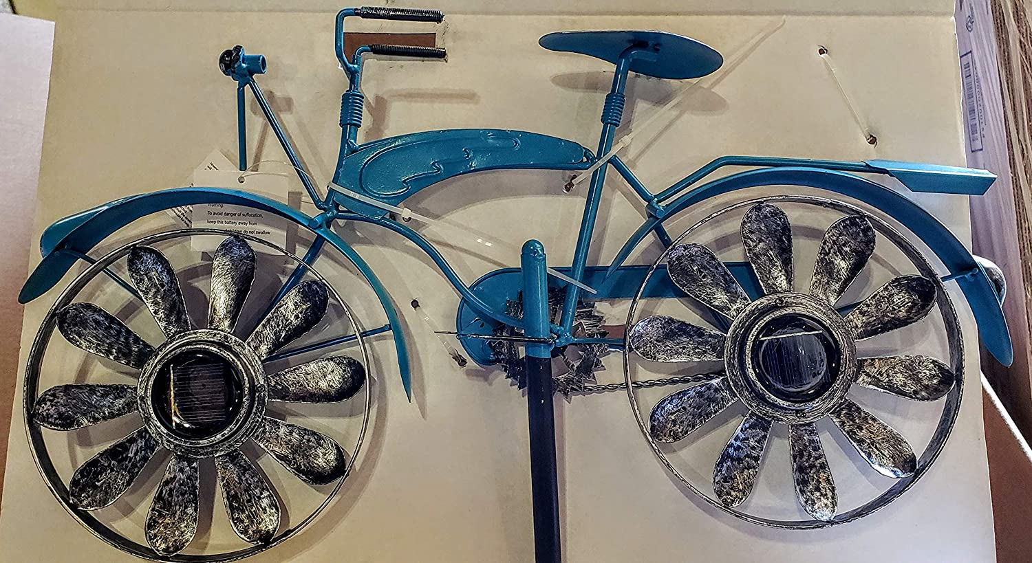 Unrays Super intense SALE Antique Bike Bicycle Windmill Solar Wind overseas Spinner