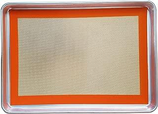 Keliwa's Aluminum Baking Pan & Silicone Baking Mat Set, 3-Piece Bakeware Set, Half Size