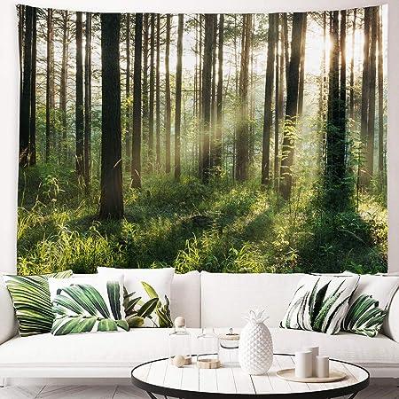Polyester Rectangle Flower Print Tapestries DIY Home Decor Wall Living E5E9