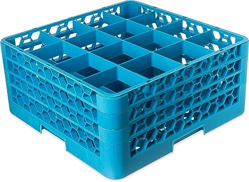 popular Carlisle sale discount RG16-314 OptiClean 16-Compartment Blue Glass Rack sale