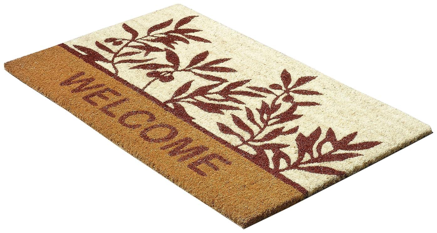 素晴らしいです生まれ土器玄関マット ココヤシ繊維 ボタニカルウェルカム