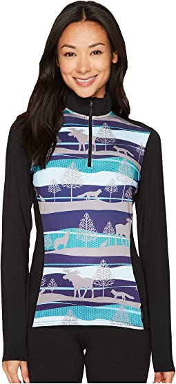 Hot Chillys - Micro-Elite Chamois Sublimated Print Zip-T
